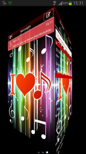 Android GO SMS Pro Theme 4 music Screen 2