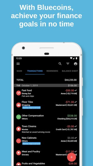 Bluecoins Finance: Budget, Money & Expense Manager 11.0.2 Screen 6