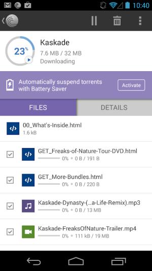 BitTorrent® Pro - Official Torrent Download App 6.1.4 Screen 1