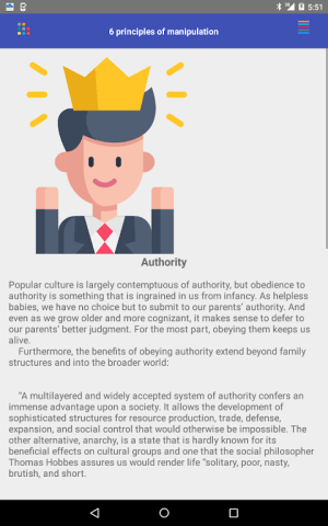 Android The 6 Principles of Manipulation Screen 21