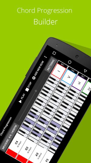 Android Piano Chord, Scale, Progression Companion Screen 2