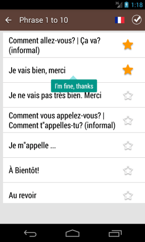 French Phrase book 3.0.0 Screen 5
