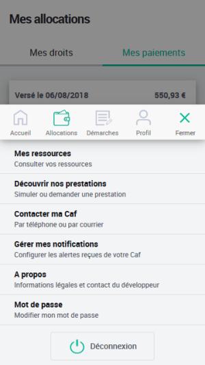 Caf - Mon Compte 2.1.0 Screen 4