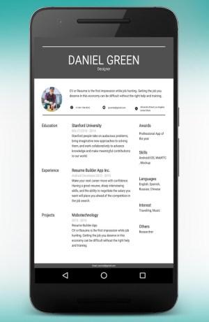 CV Maker Resume Builder PDF Template Format Editor 9.1.18.pro Screen 11