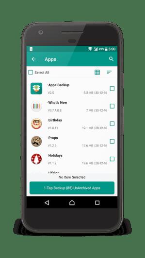 Android dev.gautam.appsbackup Screen 2