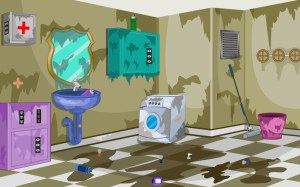 Android 3D Escape Messy Bathroom Screen 16