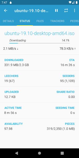 Flud - Torrent Downloader 1.6.6 Screen 9