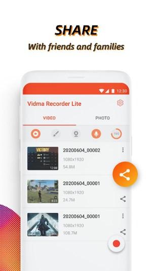 Android Video Recorder, Screen Recorder, Vidma Record Lite Screen 1