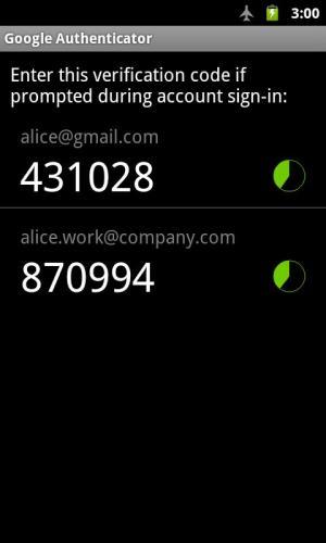 Google Authenticator 2.49 Screen 3