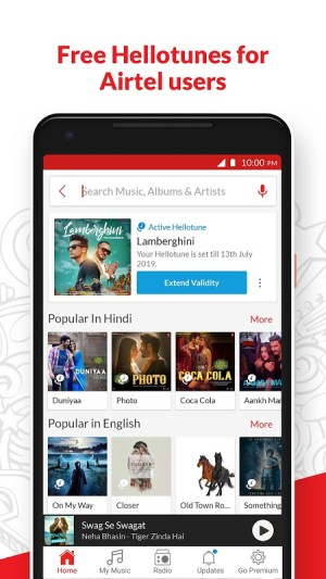 Android Wynk Music - Download & Play Songs, MP3, HelloTune Screen 7
