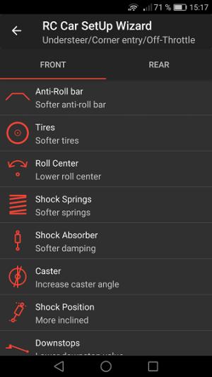 RC Car SetUp Wizard 1.0.14 Screen 4