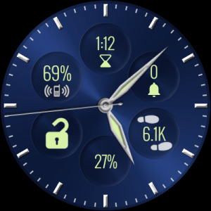Bubble Cloud Tile Launcher Watchface (WearOS) 9.70 Screen 15