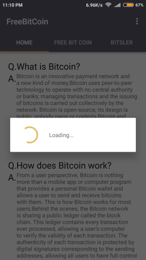 FreeBitCoin 1.0 Screen 4