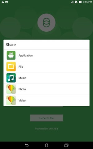 Android Share Link – File Transfer Screen 5
