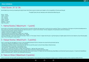 Android Nakshatra Matching Calculator | Kundli Milan Screen 3