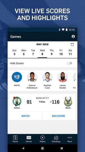 NBA: Live Games & Scores 3.1.4 Screen 1