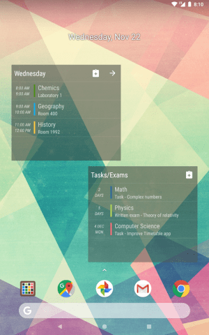 Android Timetable Screen 15