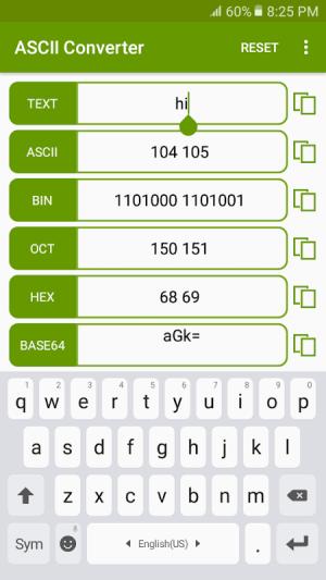 ASCII Converter - Text Encoder 1.2.4 Screen 1
