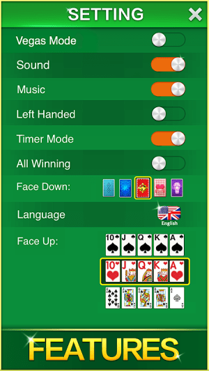 Android Solitaire! Screen 7