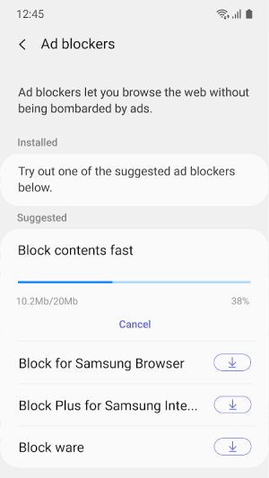 Samsung Internet Browser Beta 9.2.00.19 Screen 4