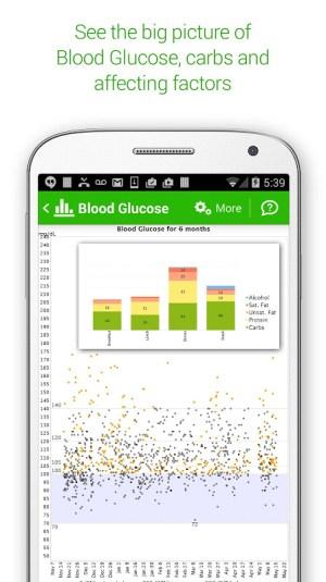 Diabetes & Diet Tracker 5.6.1 Screen 1