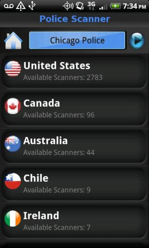 Police Scanner FREE 2.8 Screen 2