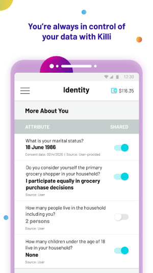 Killi - protect your data and earn money 2.6.0 Screen 1