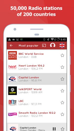 Android myTuner Radio - Free FM Radio Screen 1