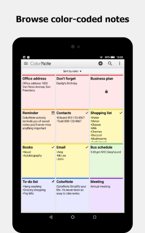 ColorNote Notepad Notes To do 4.1.4 Screen 8