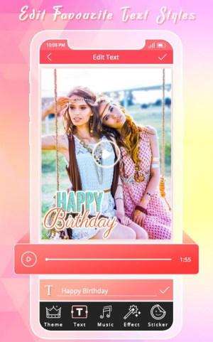Birthday Photo Video Maker 1.3 Screen 3