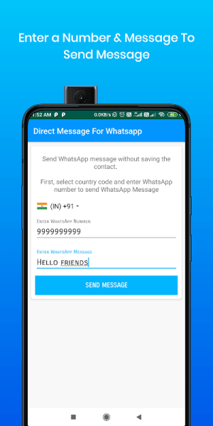Android Direct Message For Whatsapp & WA Business Screen 3