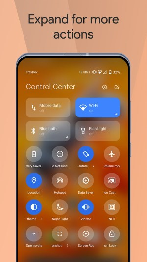 Mi Control Center: Notifications and Quick Actions 3.7.9 Screen 4