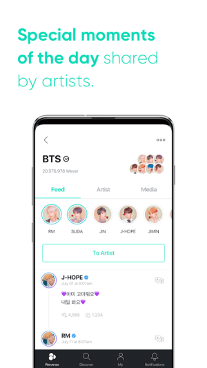 Weverse 1.2.3 Screen 5