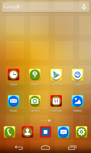 Android Stereoscopic Circle  Icon Pack Screen 3