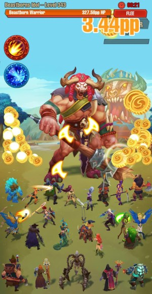 Android Idle game offline clicker: Juggernaut Champions Screen 1