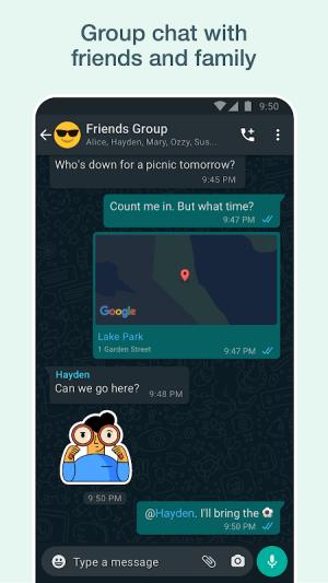 WhatsApp Messenger 2.21.11.17 Screen 4