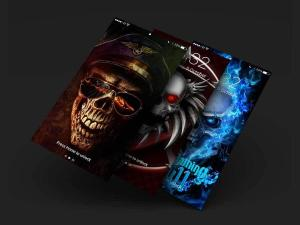Android Skull Wallpapers and Backgrounds Screen 11