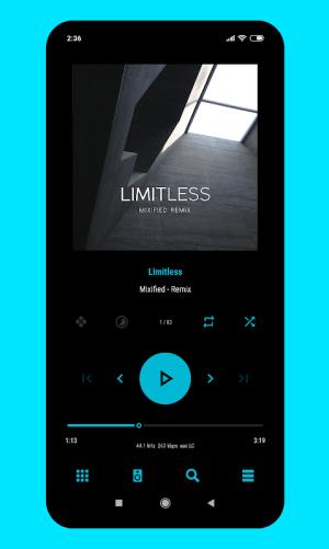 Android Aurora - Material Poweramp v3 Skin Screen 7