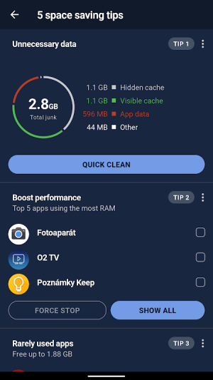 CCleaner: Cache cleaner, RAM cleaner, Booster 5.3.0 Screen 7
