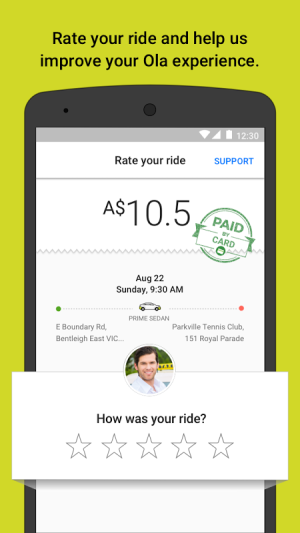 Ola cabs - Taxi, Auto, Car Rental, Share Booking 4.5.6 Screen 4