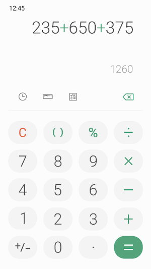 Samsung Calculator 4.0.612086 Screen 3