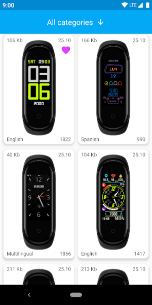 MiBand4 - WatchFace for Xiaomi Mi Band 4 1.5.0 Screen 4