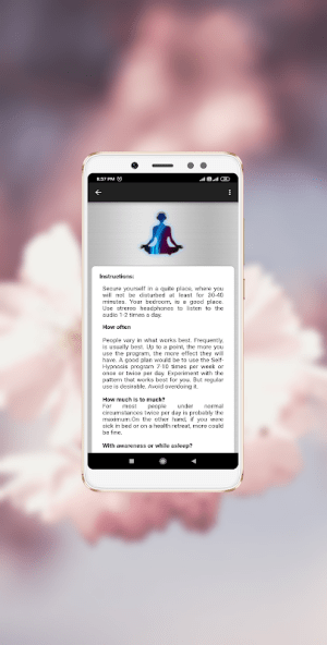Android Meditation Time: Guided Meditation Screen 1