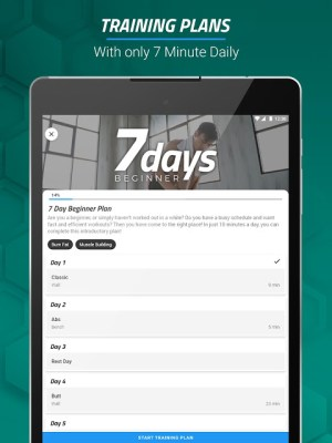 7 Minute Workouts FREE 4.3.64 Screen 12