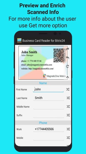 Android Bitrix24 CRM Business Card Reader Screen 6