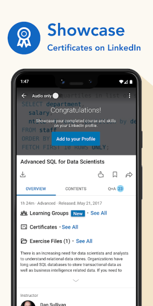 LinkedIn Learning: Online Courses to Learn Skills 0.150.0 Screen 8