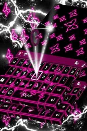 Neon Butterflies Keyboard 1.307.1.155 Screen 3