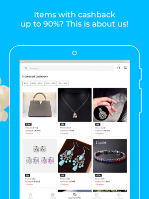 Android Backit cashback: eBay, Aliexpress and 900+ shops Screen 3