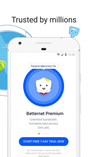 VPN Free - Betternet Hotspot VPN & Private Browser 5.2.1 Screen 3