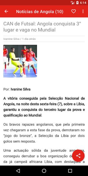 Angola notícias 1.0.5.4 Screen 2